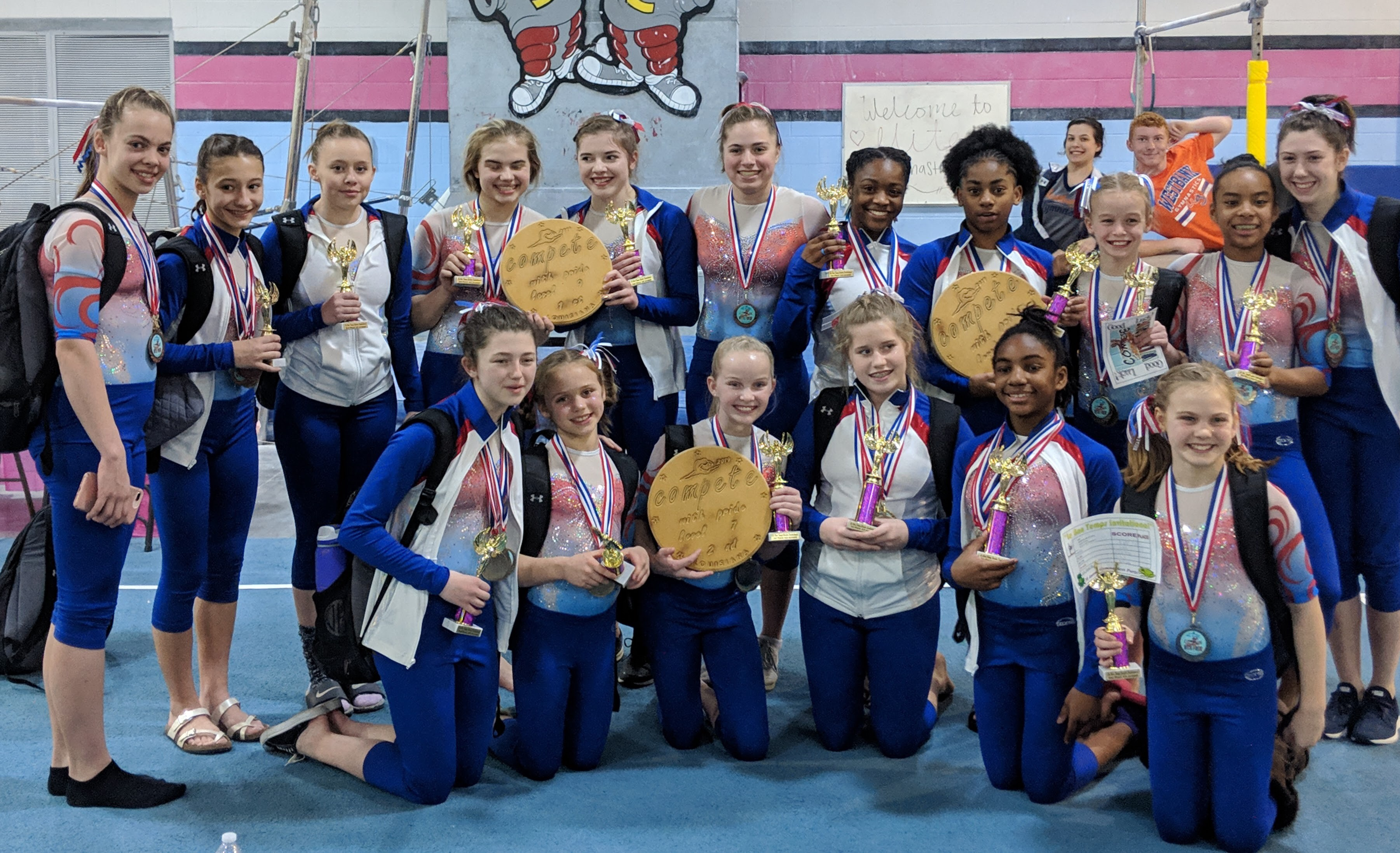 Our gymnastics team in Mobile, AL.