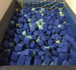 Our foam pit at our gymnastics facility