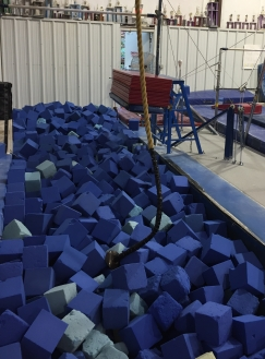 Our rope swing at our gymnastics facility